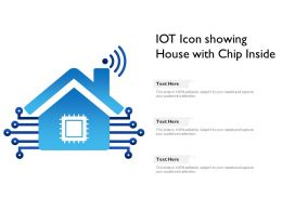 IOT Icon Showing House With Chip Inside