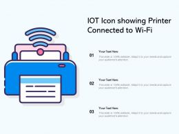 IOT Icon Showing Printer Connected To Wi Fi