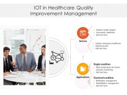 IOT In Healthcare Quality Improvement Management