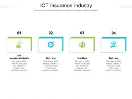 IOT Insurance Industry Ppt Powerpoint Presentation Icon Microsoft