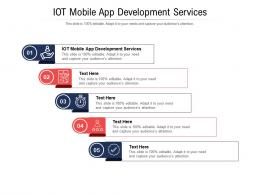 IOT Mobile App Development Services Ppt Powerpoint Presentation File Themes Cpb