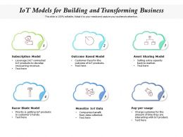 IoT Models For Building And Transforming Business