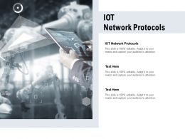 IOT Network Protocols Ppt Powerpoint Presentation File Guide Cpb