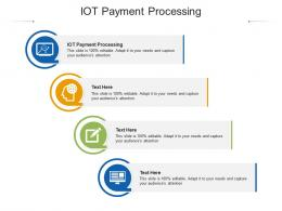 IOT Payment Processing Ppt Powerpoint Presentation Infographics Microsoft Cpb