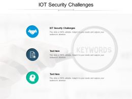 IOT Security Challenges Ppt Powerpoint Presentation Infographics Samples Cpb