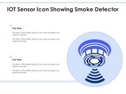 IOT Sensor Icon Showing Smoke Detector