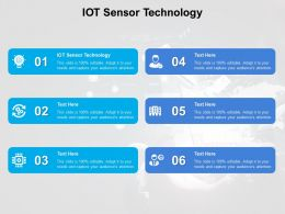 IOT Sensor Technology Ppt Powerpoint Presentation File Slides Cpb