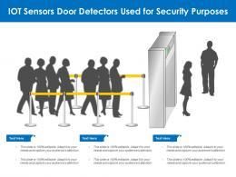 IOT Sensors Door Detectors Used For Security Purposes