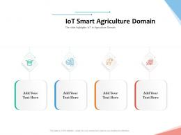 IoT Smart Agriculture Domain Internet Of Things IOT Overview Ppt Powerpoint Presentation Show Files