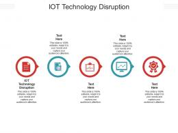 IOT Technology Disruption Ppt Powerpoint Presentation Styles Graphics Cpb