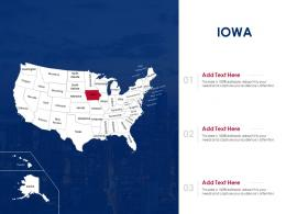 Iowa Map Powerpoint Presentation PPT Template