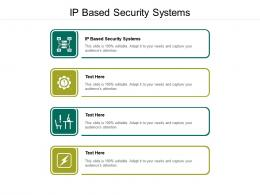 IP Based Security Systems Ppt Powerpoint Presentation Show Deck Cpb