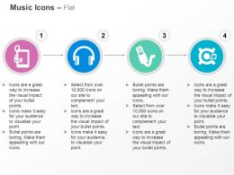 Ipad Headphone Mike Music Nodes Ppt Icons Graphics