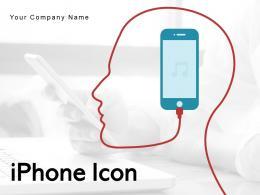 Iphone Icon Symbol Earphones Fingerprint Scanner Business Smartphone Individual