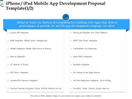 Iphone Ipad Mobile App Development Proposal Template Ppt Powerpoint Presentation Maker