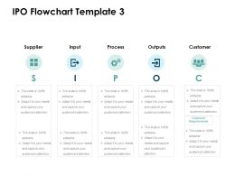 IPO Flowchart Customer Ppt Powerpoint Presentation Gallery Shapes
