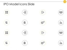 Ipo Model Icons Slide Checklist Gears E383 Ppt Powerpoint Presentation Styles Designs