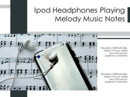 Ipod Headphones Playing Melody Music Notes
