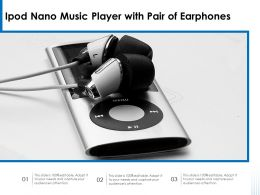 Ipod Nano Music Player With Pair Of Earphones