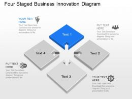 Iq Four Staged Business Innovation Diagram Powerpoint Template