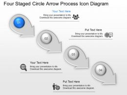 Ir Four Staged Circle Arrow Process Icon Diagram Powerpoint Template