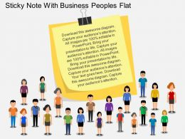 Ir Sticky Note With Business Peoples Flat Powerpoint Design