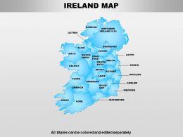 Ireland Powerpoint Maps