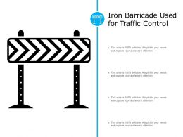 Iron Barricade Used For Traffic Control