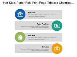 Iron Steel Paper Pulp Print Food Tobacco Chemical Petrochemical