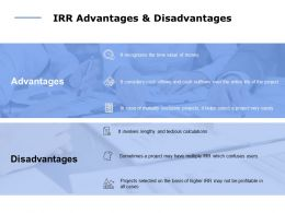 IRR Advantages And Disadvantages Ppt Powerpoint Presentation File Show