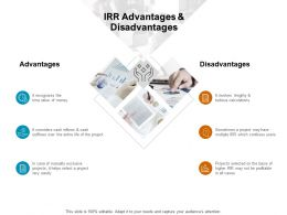 IRR Advantages And Disadvantages Project Ppt Powerpoint Presentation Guidelines