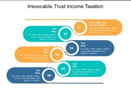 Irrevocable Trust Income Taxation Ppt Powerpoint Presentation Summary Cpb