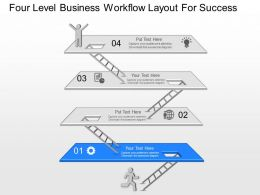 is Four Level Business Workflow Layout For Success Powerpoint Template