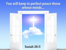 Isaiah 26 3 You will keep in perfect Power PowerPoint Church Sermon