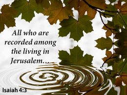 Isaiah 4 3 All Who Are Recorded Among Powerpoint Church Sermon