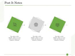 Ishikawa Analysis Organizational Post It Notes Audience Attention Ppt Designs