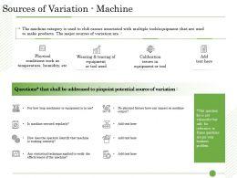 Ishikawa Analysis Organizational Sources Of Variation Machine Pinpoint Potential Ppt Microsoft