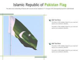 Islamic Republic Of Pakistan Flag Powerpoint Presentation PPT Template
