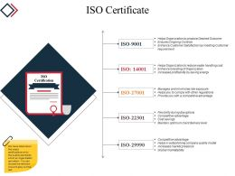Iso Certificate Powerpoint Slide Graphics