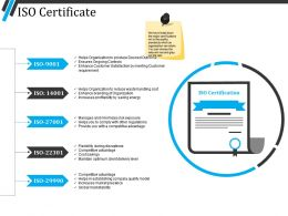 Iso Certificate Ppt Background Designs