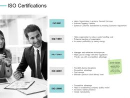 ISO Certifications Communication Planning Ppt Powerpoint Presentation File Topics