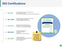 Iso Certifications Presentation Powerpoint Example