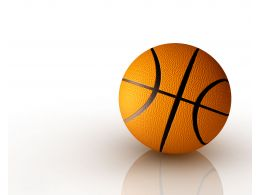 Isolated Basket Ball For Game Stock Photo