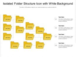 Isolated Folder Structure Icon With White Background