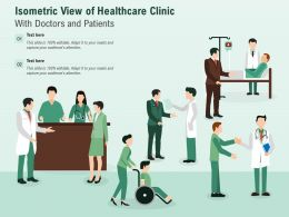 Isometric View Of Healthcare Clinic With Doctors And Patients