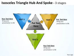 Isosceles Triangle Hub And Spoke 3 stages 10