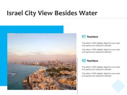 Israel City View Besides Water