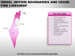 Israel Country PowerPoint Maps