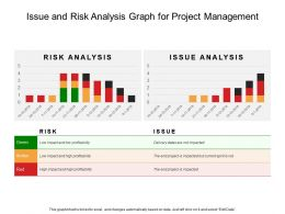 Issue And Risk Analysis Graph For Project Management