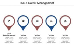 Issue Defect Management Ppt Powerpoint Presentation Inspiration Maker Cpb